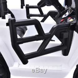 12V3 Speed Kid Ride On Electric Remote Control Car Jeep Indoor/outdoor Toy Black