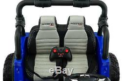 12V 2 Seater KIDS RIDE ON TRUCK SUV CAR JEEP 2 Powerful Motor, Rubber Tire+Remote
