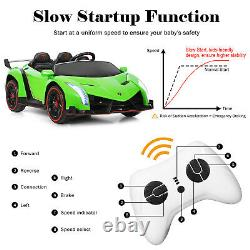 12V 2-Seater Licensed Lamborghini Kids Ride On Car with RC & Swing Function Green