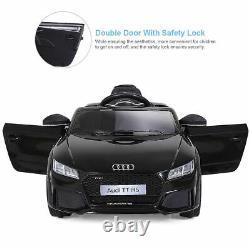 12V Audi TT RS Electric Kids Ride On Car Licensed Remote Control MP3 Black