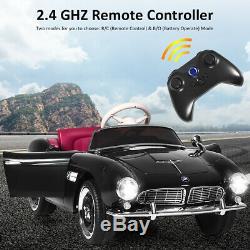 12V BMW 507 Licensed Electric Kids Ride On Kids Car RC withMusic & Lights Black