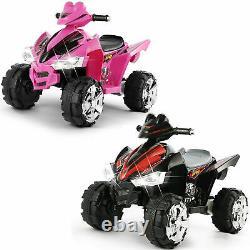 12V Battery Electric Kids Ride On ATV Quad Car 4Wheel Toy Music LED Light 2Speed