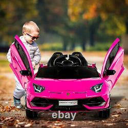 12V Battery Powered Electric Kids Ride On Car Lamborghini Aventador SVJ Pink