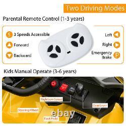 12V Battery Powered Electric Kids Ride On Car Lamborghini Aventador SVJ Yellow
