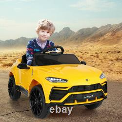 12V Battery Powered Electric Kids Ride On Car Lamborghini Remote Control Yellow