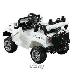 12V Battery Powered Kids Ride On Cars Electric Jeep Truck Remote Control