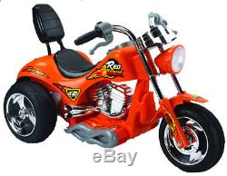 12V Battery Powered Kids Ride On Toy Chopper Motorcycle Car 3 Wheels Red