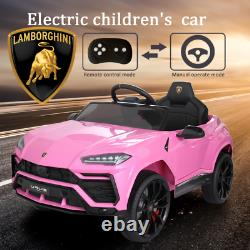 12V Battery Powered Lamborghini Electric Kids Ride On Car Remote Control Pink