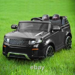 12V Black Kids Ride on Car Truck Toys Electric 3 Speeds MP3 LED withRemote Control
