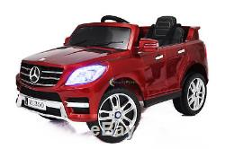 12V Car For Kids Licensed Ride On Mercedes ML350 Toy Remote Control MP3 Cherry