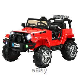 12V Electric Battery Kids Ride on Car Toys Truck LED MP3 With Remote Control Red