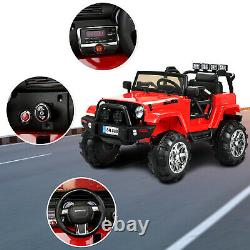 12V Electric Battery Kids Ride on Car Truck Jeep LED MP3 with Remote Control Red
