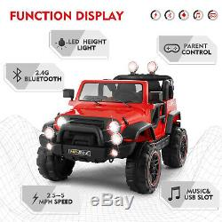 12V Electric Battery Kids Ride on Car Truck Toys LED Music WithRemote Control Red