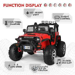 12V Electric Jeep Kids Ride on Truck Car Toy Auto Return Spring Suspension RedRC