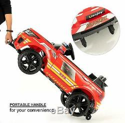 12V Electric Kids Police Ride On SUV Toy Car Remote Control LED&Music&Horn Red