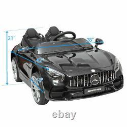 12V Electric Kids Ride On Car Mercedes Benz Licensed MP3 RC Remote Control Black