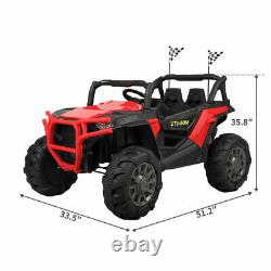 12V Electric Kids Ride-On Car Truck 3 Speeds Bluetooth 4 Shock-Absorbing wheels