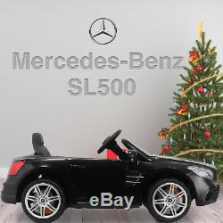 12V Electric Kids Ride On Toy Cars Mercedes Benz SL500 6 Speeds with RC Black