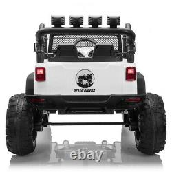 12V Electric Kids Ride on Car Toys Truck LED MP3 Player with Remote Control White