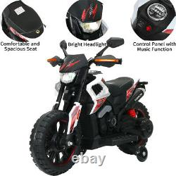 12V Electric Motorcycle Kids Ride On Dirt Bike Car Toy Power Wheels Car Gift