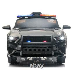 12V Electric Police Car Kids Ride On SUV Toy RC with Remote & Siren Flashing Light