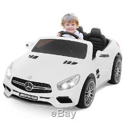 12V Electric Ride-On Car For Children WithParent Control Battery Powered White