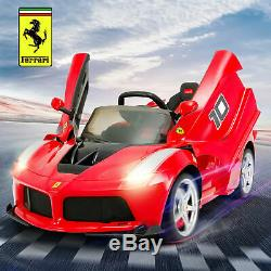 12V Ferrari FXX K Electric Kids Ride On Toy Car withLeather Seat Stickers Gift RED