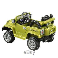 12V Jeep Style Kids Ride On Car Battery Powered LED Light Remote Control