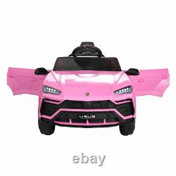 12V Kid Ride on Car Truck Remote Control Licensed Lamborghini Rechargeable Pink