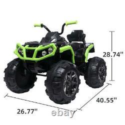 12V Kids ATV Ride On Car Toys Battery Powered 4 Wheel, 2 Speed, LED Light, Music