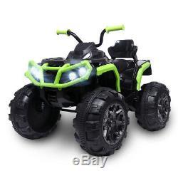 12V Kids Electric ATV Ride-On Toy Children Car with 2 Speeds, LED Lights, Sounds