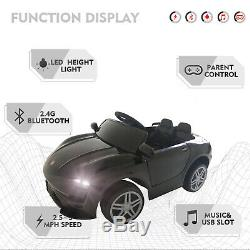 12V Kids Electric Toys Ride on Car Battery Suspension 3 Speed With RC Music Black