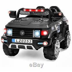 12V Kids Police Ride-On SUV Car 2 Speeds, Lights, Music, Sirens, Parent Control