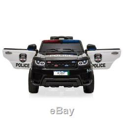 12V Kids Police Ride-On SUV Car 3 Speed, Lights, Music, Sirens, Remoted Control