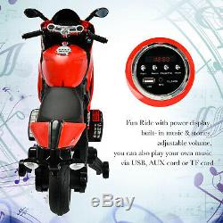 12V Kids Racing Style Motorcycle Powered Electric Ride On Toy Car Training Wheel