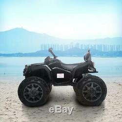 12V Kids Ride On ATV Car Quad 4 Wheels Suspension Electric Toy Led Light Music