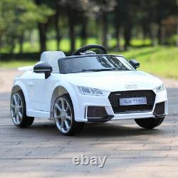 12V Kids Ride On Audi TT RS Licensed Toys Racing Car 2 Motor Remote Control