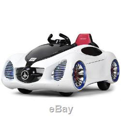 12V Kids Ride On Car Battery Powered RC Remote Control with MP3 & Lights White