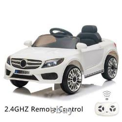12V Kids Ride On Car Electric Car WithMP3 LED Lights Toy Gift Remote Control White