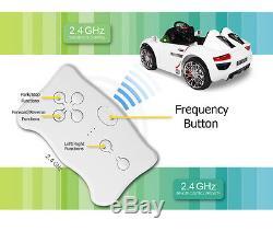 12V Kids Ride On Car Electric Power Wheels Remote Control Key Start Tunes White
