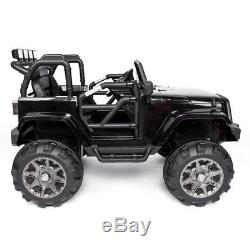12V Kids Ride On Car Jeep Truck Remote Control LED Lights Power Wheels MP3 Gift