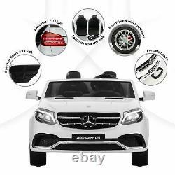 12V Kids Ride On Car Licensed Mercedes-Benz GLS63 AMG Electric RC 2-Seater White