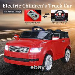 12V Kids Ride On Car MP3 Truck Remote Control Battery Wheels With LED Lights Red