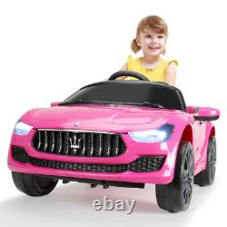 12V Kids Ride On Car Maserati Rechargeable Battery Electric Toy WithRemote Control