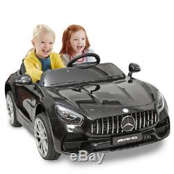 12V Kids Ride On Car Mercedes Benz Electric Led Light MP3 Remote Control Black