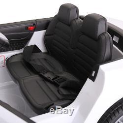 12V Kids Ride On Car Mercedes Benz License MP3 Remote Control Power Wheels White