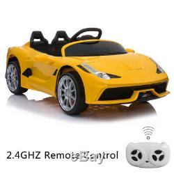 12V Kids Ride On Car Truck Battery Power 3 Speed With Lights Music 2 Motors Yellow