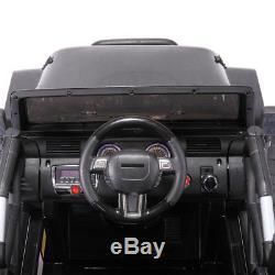 12V Kids Ride On Car Truck Remote Control 3 Speed LED Black