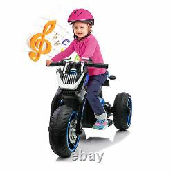 12V Kids Ride On Motorcycle Three-wheeled Electric Toy Bike Car with Mp3 Horns