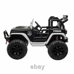 12V Kids Ride On Police Car Electric Battery Powered Truck Toys withRemote Control